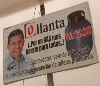 Ollanta Humala gas a 12 soles