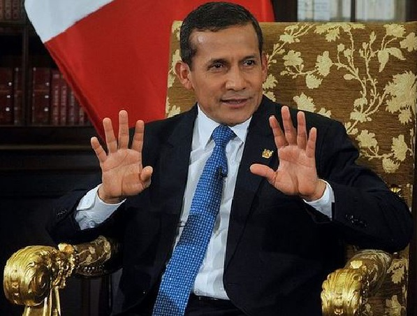Presidente  del Perú Ollanta Humala