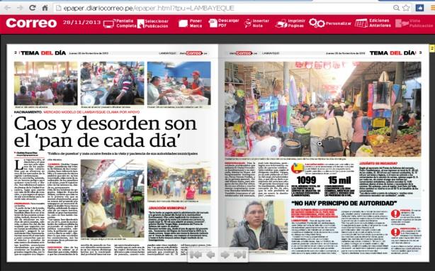DESORDEN Y CAOS EN MERCADO DE LAMBAYEQUE.