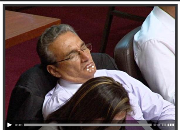 Durmiendo en el Congreso