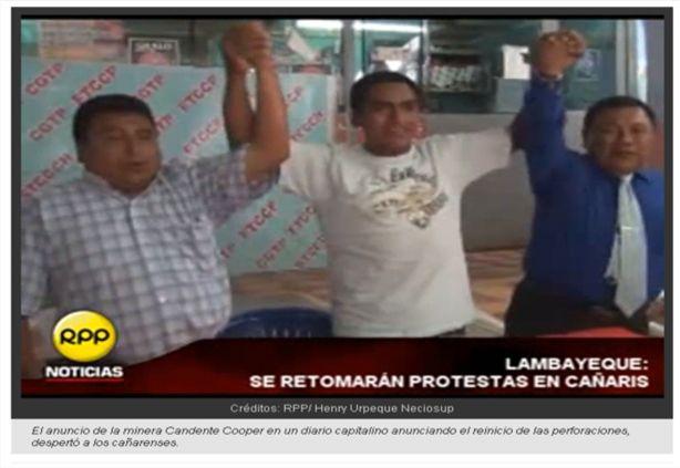 kañaris vuelve a protestar