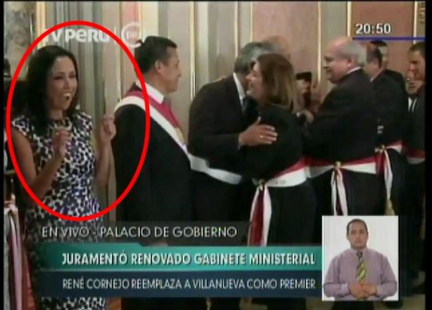 Nadine Heredia-juramentecion de Premier2014