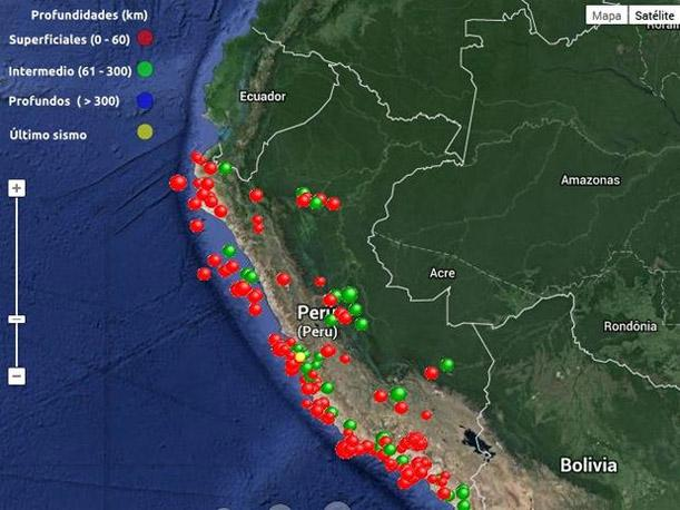 zona de sismos peru
