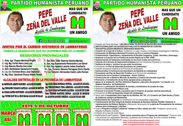 VOLANTES 2  DE REGIDORES Y ALCALDES