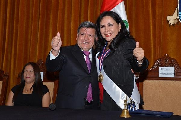 Alcladesa de Trujillo y Cesar Acuña